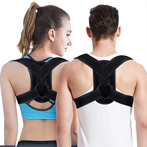 Haltungskorrektur Bandage für Damen und Herren, Gerader Oberschenkel und Schlüsselbein-Bandage mit verstellbaren Trägern für Rücken, Schulter und Nacken Schmerzlinderung -
