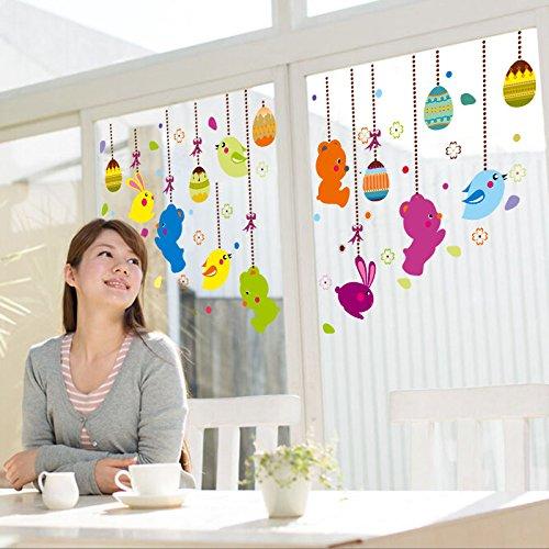 mznm Cartoon Tier Hängeornamente Einkaufszentrum Glas Tür Shop Fenster Arrangement Schwangerschafts Store doppelseitig Glas Dekoration