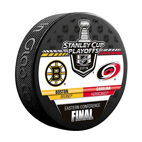 Inglasco 2019 NHL Conference Final Dueling Souvenir Puck: Bruins vs Hurricanes