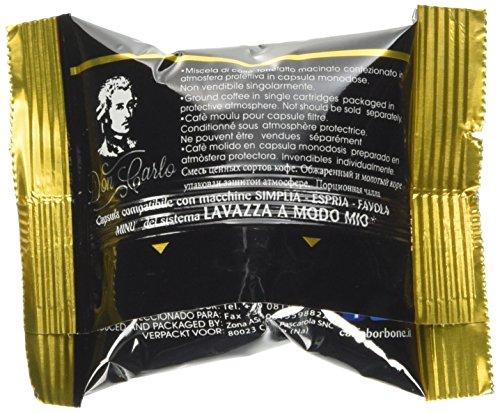 Caffè Borbone Don Carlo Miscela Oro- Confezione da 100 pezzi Capsule - Compatibile Lavazza A Modo Mio®