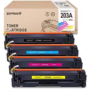 ZIPRINT 203A Toner 4 Pack kompatibel HP 203A HP CF540A CF541A CF542A CF543A Toner für HP Color Laserjet M281fdw M281fdn Laserjet M254dw M254nw Laserjet M280nw