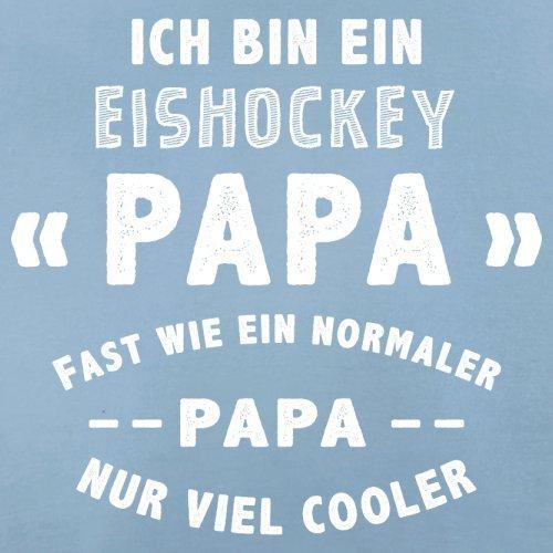 Ich bin ein Eishockey Papa - Herren T-Shirt - 13 Farben Himmelblau