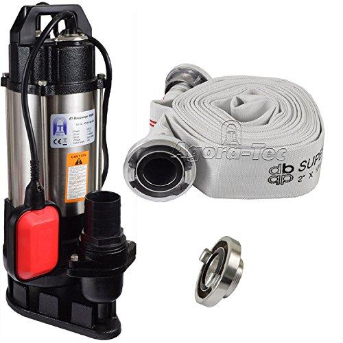 AT-Baupumpe-550W-Tauchpumpe-fr-Schmutzwasser-Abwasser-fr-Fkalien-und-organische-Feststoffe-mit-Schwimmerschalter-und-max-11-bar-und-max-14500lh-inklusive-CSTORZ-Kupplung-und