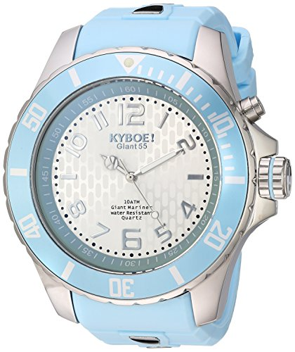 KYBOE Unisex-Adult Analog Quartz Watch with Silicone Strap KY.55-030.15