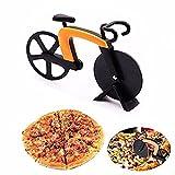 DORSION Fahrrad Pizzaschneider Edelstahl-Fahrrad-Pizza-Schneidrad(Orange & Black) (1PCS)