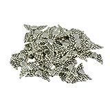 MagiDeal 50x DIY Engel form Charm Anhänger Schmuckherstellung Tibetisches Silber DIY Handwerk
