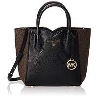 MICHAEL KORS Womens Small Messenger Bag, Brown/Black - 30H9GM5M5B