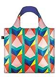 LOQI Geometric Einkaufstasche / Reisetasche Reise-Henkeltasche, 50 cm, Mehrfarbig (Triangles New)
