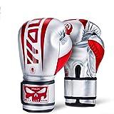 Xasclnis Guanti da Boxe Alta traspirabilità Punzonatura Difficile da Scivolare Cuscino Spesso Boxe Arti Marziali Miste MMA (Color : Red, Size : 12OZ)