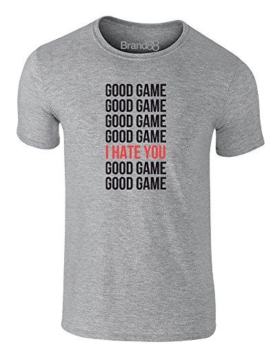 Brand88 - Good Game, Erwachsene Gedrucktes T-Shirt Grau/Schwarz