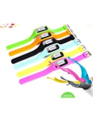 Podómetro para el paso de pie Contador Relojes deportivos Fitness Trackers Band Purple