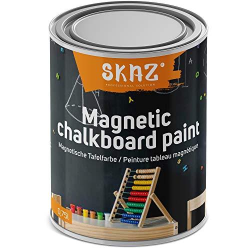 Pintura magnética 2 en 1 para interiores. Color negro pizarra, hipoalergénica, perfecta para la habitación de los niños