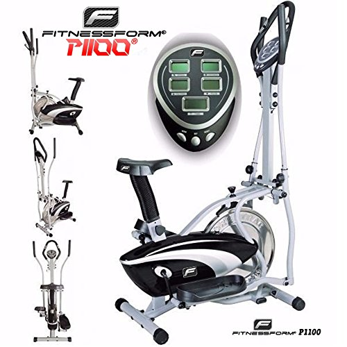 Fitnessform� P1100 Cross Trainer 2-in-1 Fitness Elliptical Exercise Bike (New Model)