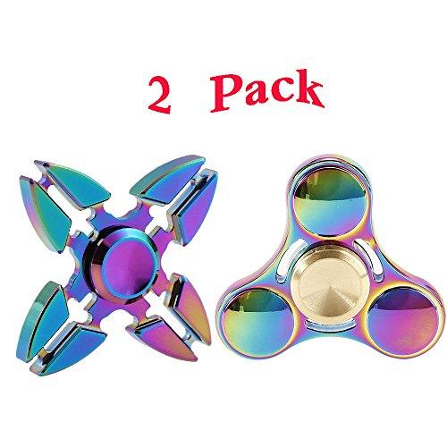 Preisvergleich Produktbild Yonbii 2pack Fidget Spinner Fidget Toys Hand Spinner Finger Spielzeug für Kinder und Erwachsene Spielzeug Geschenke
