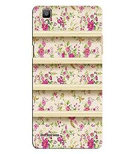 Citydreamz Pink Floral Design Hard Polycarbonate Designer Back Case Cover For Oppo F1