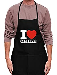 Teeburon I love Chile Delantal
