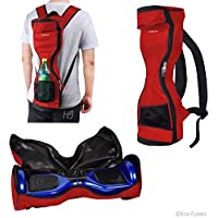 Mochila Impermeable para llevar/guarde drifting board (dos ruedas Inteligentes Balance Board Scooter Electrico Auto Smart Drifting Board) – Malla de bolsillo – Tirantes ajustables - Rojo