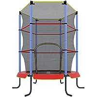 Ultrasport Kinder Indoor-Trampolin Jumper 140 cm, Spaß- und Fitnesstrampolin für Kinder ab 3 Jahren, für die Nutzung als Zimmertrampolin besonders gesichert mit Netz und Randabdeckung