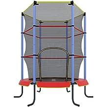 Ultrasport Jumper - Cama elástica de interior para niños, color rojo, 140 cm