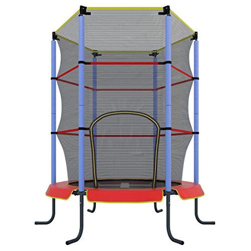 Ultrasport-Kinder-Indoor-Trampolin-Jumper-140-cm-inkl-Sicherheitsnetz