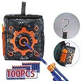 niceEshop(TM) Sac de Rangement Tactique, Kit de 100 Pcs Balles, 1 Crochet et 1 Sac de Cible avec la Grande Capacité pour des Balles et des Canons de Nerf (Couleur Camouflage)