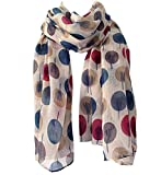 Picture Of Scarf Beige Ivory Cream Sketch Tree Print, Ladies Wrap Shawl, Sarong Teal Maroon Red