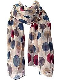 Gorgeous Ladies Powder Design Floral Print Teal Large Scarf in Gift Bag