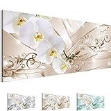 !!! SENSATIONSPREIS !!! Bilder – Wandbild - Vlies Leinwand - 100 x 40 cm - Orchidee Bild - Kunstdrucke – mehrere Farben und Größen im Shop - Fertig Aufgespannt !!! 100% MADE IN GERMANY !!! - Blumen – Abstrakt 209112b