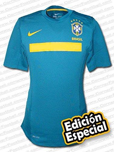 Nike - Brasil 2ª Camiseta Authentic E.E 11/12 Hombre Color: Verde Talla: M