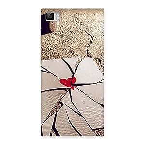 Premium Broken Heart Ace Print Back Case Cover for Xiaomi Mi3