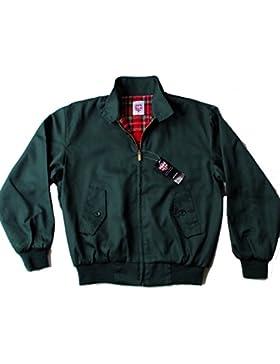 Warrior Harrington Jacket Coat Mod Tartan Check Forest Green