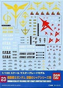 BANDAI Model Kit 34150-51597Gundam Decal 23-MG Multi Char Counter Attack