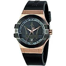 Maserati Reloj Analógico de Cuarzo para Hombre con Correa de Cuero – R8851108002