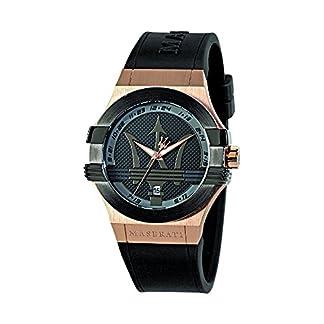 Reloj para Hombre, Colección Potenza, Movimiento de Cuarzo, Solo Tiempo con Fecha, en Acero, PVD Oro Rosa, PVD Negro y Poliuretano – R8851108002