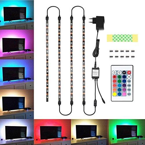 TV Hintergrundbeleuchtung, Blusmart Led Streifen Beleuchtung Wasserdicht 4x40cm und 4x50cm Anschlusskabel mit...