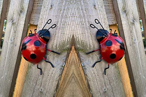 SET OF 3 LADYBIRDS//BUGS  WALL ART DECOR ORNAMENT HOME//GARDEN//FENCE//TREE