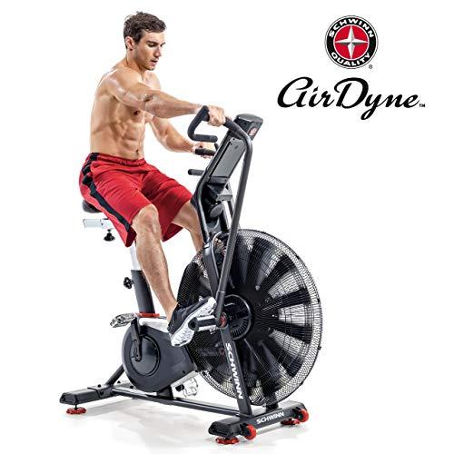 Schwinn Airdyne AD8 Profi Fitnessbike, grenzenloser Widerstand, leistungsstarker Antriebsriemen, Multi-Display LCD Konsole mit Watt-Anzeige, Herzrfequenzmessung über Brustgurt, Max. Benutzer 160 kg