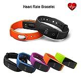 FANCY CHERRY® Bluetooth Smart Armband, Schrittzähler, Fitnessarmband mit Herzfrequenzmesser, Fernbedienungskamera, Schlafanalyse (Blue) - 8
