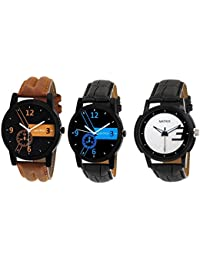 Matrix Combo Of 3 Analogue Multicolor Dial Men's Watch-Trp-8