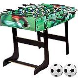 Maxstore Tischfussball 'Belfast', klappbar, Farbe: Schwarz, nahtlos hochgezogene Spielfeldecken, inkl. 2 Bälle, Kicker Kickertisch Tischkicker