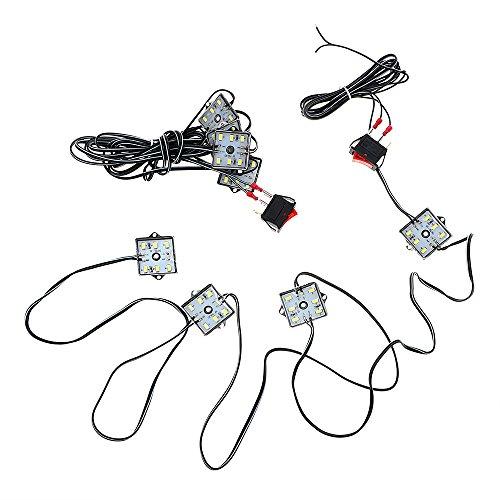 Itimo 1 paire 48 LED Voiture Dome Lampe de lecture DC 12 V SMD 5730 lampe Déco Blanc Auto lampe de toit kit Car-styling