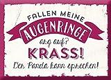 Grafik-Werkstatt 60715 Magnet | Fallen Meine Augenringe auf? …. Kühlschrank-Magnet | lustig mit Spruch | 9 x 6, 5 x 0, 4 cm | Vintage | Retro | Nostalgic Magnet, Metall, Uni, 9 x 6, 5 cm