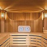 Campinery Sauna Klimamesser/Sauna Thermometer Hygrometer mit Holzrahmen value -