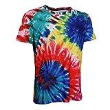 d2a1e6e83a5f MagiDeal Camiseta Gráfica Teñido Anudado Manga Corta Casual Hippie Top  Jóvenes Hombres Regalo Hermoso - Multicolor4, XXL