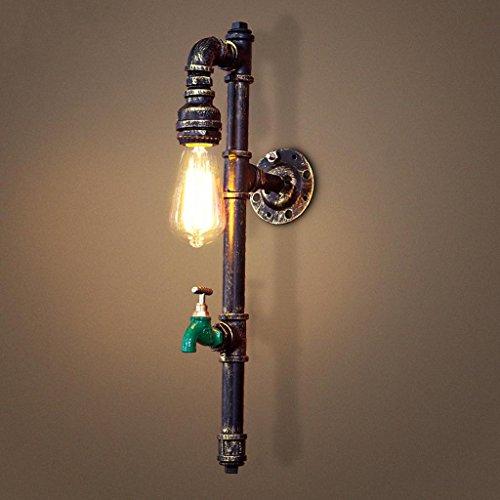 Industrial Wind kreativ einzigen Kopf Wasser Rohr Wandleuchte Restaurant Wohnzimmer Kaffeemaschine Eisen Wandlampe