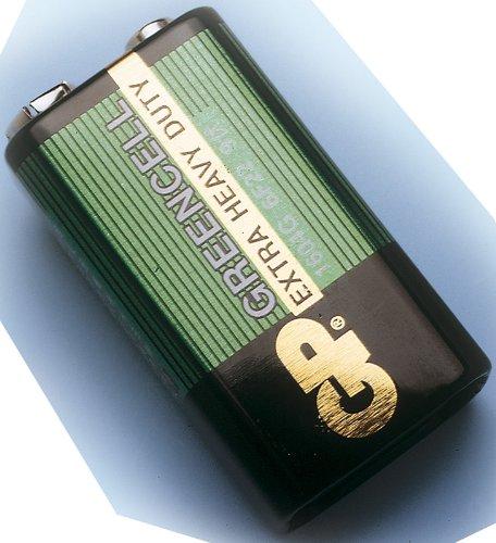 Blockbatterie - 9 V - Zink-Kohle - 1 Stück