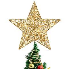 Idea Regalo - STOBOK Albero di Natale Topper Festivo Decorazioni Natalizie Cime degli Alberi Luce Stella degli Alberi per Ufficio Centro Commerciale casa