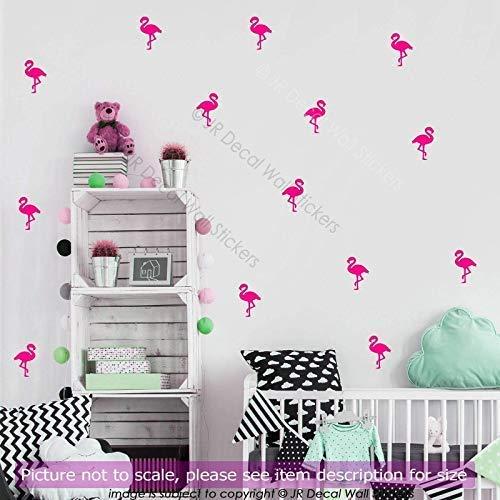 30 Stück große (14cm) Flamingo Kinderzimmer Wandaufkleber, abnehmbare Vinyl Wandtattoos, Kinderzimmer Dekor, Küche, Mädchen Schlafzimmer Dekor, Bad Fliesen Aufkleber -