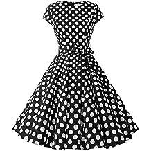 d3be5599b47fa ... pour tenue année 50. Dressystar Robe à  Audrey Hepburn  Classique  Vintage 50 s 60 s Style à Mancheron