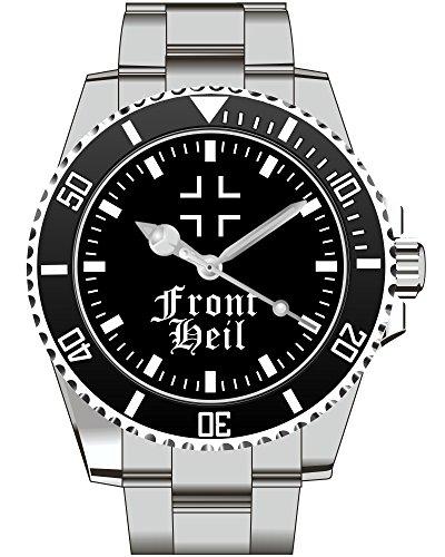 Front Heil BW Bundeswehr Wappen WH Deutsches Reich Uhr - Uhr 1798